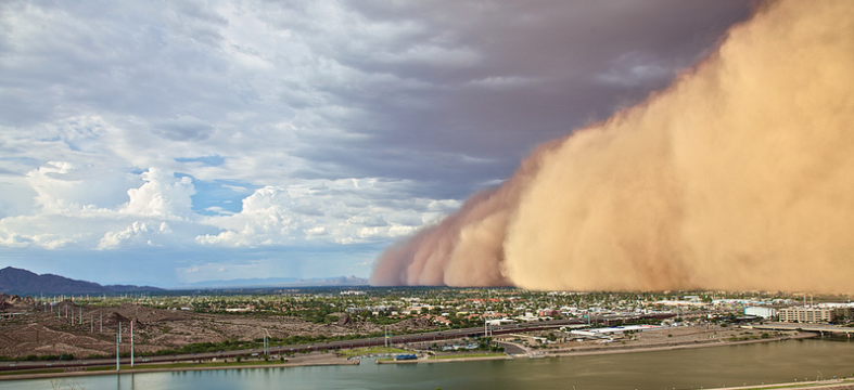 """Just one example of a """"Haboob"""" going over a city"""