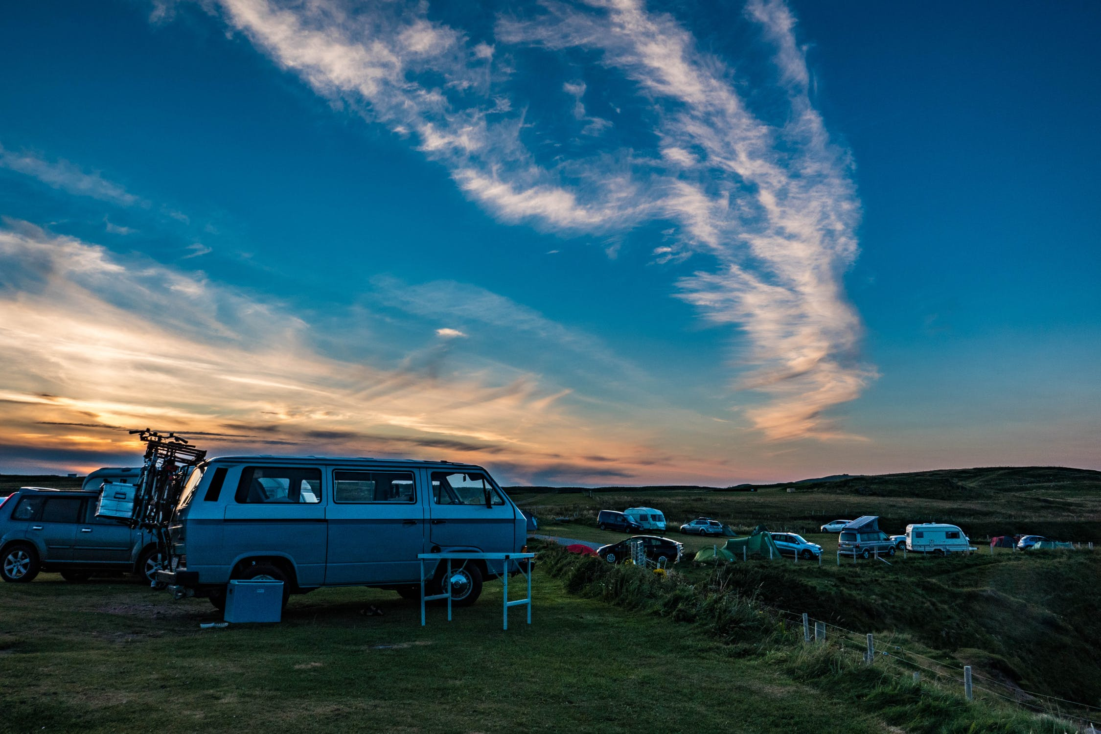 pick complimentary camping sites