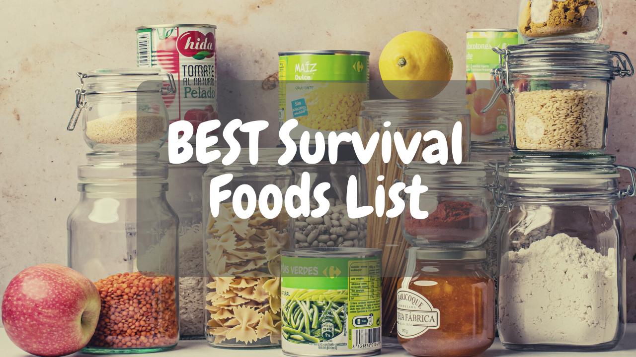 best survival foods